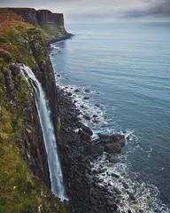 Fall for you (CNorthExplores) Tags: waterfall ocean water rocks cliff shoreline mealtfalls kiltrock isleofskye scotland nature