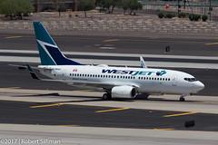 WestJet Boeing 737 C-FMWJ-4178 (rob-the-org) Tags: exif:focallength=250mm exif:lens=ef70300mmf456isusm camera:make=canon exif:isospeed=100 camera:model=canoneos60d exif:aperture=ƒ10 exif:model=canoneos60d geolocation exif:make=canon kphx phx skyharborinternational phoenixaz terminal4 parkingp8 westjet boeing 737 cfmwj arrival f10 250mm 1500sec iso100 cropped noflash topjune2017
