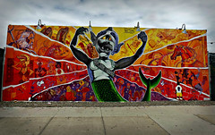 Spook-A-Rama (Robert S. Photography) Tags: art mural coney spookarama street sky coneyisland newyork brooklyn nikon color coolpix l340 iso80 may 2017