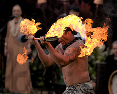 Fire Performer at Hawaii Island (Journey CPL) Tags: hawaii hawaiian fire dancer performer ethnic traditional show torch light dance performance