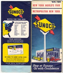 1964  New York Sunoco Map (Nicholas Eckhart) Tags: map scanned document vintage sunoco gasstation worldsfair 19641965 1964