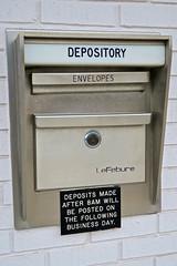 Night Depository, Red Oak, IA (Robby Virus) Tags: redoak iowa ia bank night deposit depository