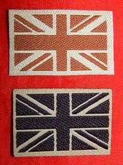 Desert union jack flags (militaria collector) Tags: unionjack unionjackflag britisharmy desert desertpatch greatbritain unitedkingdon britisharmypatches