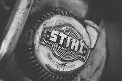 Vintage Stihl (Grant is a Grant) Tags: annapolisvalley d90 kingscounty nikon northvillefarmheritagecentre vsco vscofilm antiquetractorpull northville novascotia ns tractorpull centreville canada ca bw blackandwhite monochrome stihl chainsaw