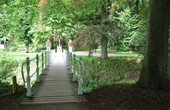 Bridge to reflection. (♥ Corry ♥) Tags: trees bridge religious reflection nature forest bench bomen brug religieus bezinning devotie bank bos natuur netherlands nederland holland limburg valkenburg canon