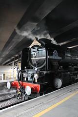 Eastern Interloper (g4vvz) Tags: lner a1 new build uk 60163 tornado steam engine london paddington cornishman smokebox headboard bridge platform station train steamy