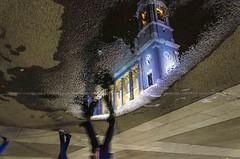 walking in the night... (Peppis) Tags: spagna madrid españa chiesa church reflection puddle pozzanghera fotonotturne notturno fotosnocturnes nikon peppis night nightimage nightshot nightlights
