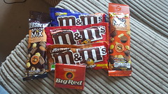 American Candy (jambox998) Tags: coffee nut strawberry caramel mms big red hersheys reeceys mix