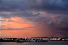 Portrush. (ikerr) Tags: portrush northernireland antrim sea sun sunset clouds dark orange black sky d7100