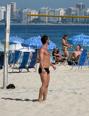 IMG_9603 (jaglazier) Tags: 2017 6417 adults apartments architecture beaches bearded beards brazil buildings copacabana copyright2017jamesaglazier june leme men portraits riodejaneiro barechested barefoot cliffs landscapes sandybeaches volleyball