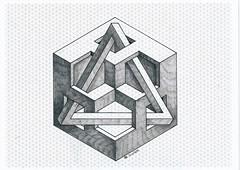20170611_0012 (regolo54) Tags: impossible isometric geometry symmetry hexagon penrose triangle mathart regolo54 oscareutersvärd escher