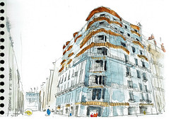 Angers, la Maison Bleue (Croctoo) Tags: croctoo croquis croctoofr aquarelle watercolor angers ville maisonbleue maineetloire