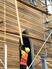 St. George's Cathedral Repairs #2 (*Amanda Richards) Tags: stgeorgescathedral cathedral guyana georgetown iphone7 repairs work menatwork greenheart lapedge shiplap tallestwoodenbuilding scaffolding hardhats gothic historic woodenbuilding