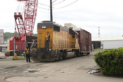 UP 667 ~ Seattle Industrial District (Chris City) Tags: train railway railroad uprr switching switch local branchline teamtrack seattle boxcar