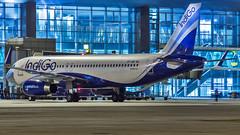 Indigo Airbus A320 VT-IAR Bangalore (BLR/VOBL) (Aiel) Tags: indigo airbus a320 vtiar bangalore bengaluru canon60d night noflash canon24105f4lis