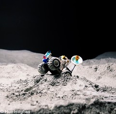 IMG_5013 (Hue Hughes) Tags: lego space spacemission moon moonlanding lunar astronaut unikitty benny superman alien mech spaceman rover lunarrover craters moondust toys macro fun cute apollo
