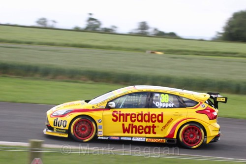 Martin Depper in BTCC action at Croft, June 2017