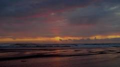 Pacific Sunset (sswj) Tags: sangregorio northerncalifornia california sanmateocounty pacificocean pacificsunset composition february leica dl4 seascape surf waves horizon clouds beautifulcolors beautifullight availablelight existinglight naturallight scottjohnson reflection reflectedlight waterreflection