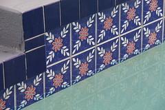 Pool Geometry (C. VanHook (vanhookc)) Tags: swimmingpool tiles geometricpattern shadesofblue week242017 52weeksthe2017edition weekstartingsundayjune112017