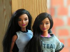 Sisters (ArtCat80) Tags: curvy yoga barbie doll outdoor summer artcat mattel