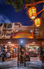 Indy Outpost (Matt Valeriote) Tags: hdr disneyland disney californiaadventure adventureland indianajones night giftshop indianajonesadventureoutpost