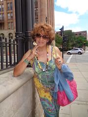 Will Pose For Free (Laurette Victoria) Tags: dress auburn laurette milwaukee downtown sunglasses