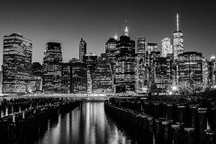 Manhattan (ravalli1) Tags: manhattan newyork night usa eastriver blackandwhite brooklyn longexposure nikon lights buildings architecture