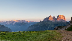 Alba in val di Fassa (cesco.pb) Tags: passopordoi valdifassa canon canoneos60d tamronsp1750mmf28xrdiiivcld dolomiten dolomiti dolomites alps alpi sassolungo catinaccio trentino italia italy
