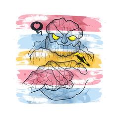 Os brutos também amam (www.instagram.com/thiagor6/) Tags: arte ilustração design vetor thiagor6 desenho