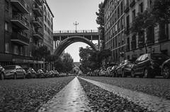 Viaduct of Madrid (pelpis) Tags: blackandwhite bw scene scenary city urban urbanlandscape urbanscene streetscene urbanstyle style streetstyle flickr