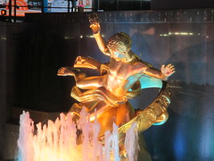 Gold Prometheus Statue by Paul Manship 6241 (Brechtbug) Tags: seated ballerina mylar balloon night art sculpture by jeff koons 2017 rockefeller center nyc 30 rock new york city standing up above ice rink gold prometheus statue paul manship giant decoration ornaments 05202017 nights nite nites lights lites light oversize load ornament summer spring kids toy kitsch 60s toys sculptures statues pretty evening lobby plaza plant plants plastic artist