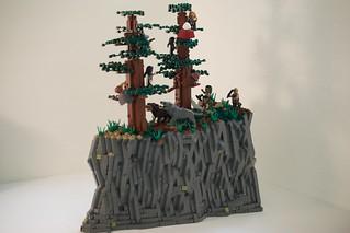 Fifteen Birds in Five Fir Trees