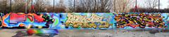 Fork x Racr x Raso (FORK4 / AFX / SW307 / UBS) Tags: tbt afx fork4 fork racr raso hungary budapest espania spray molotow graffiti streetart mural joiner digital pixel wildstyle