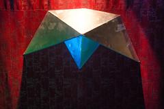 Origami (Santini1972) Tags: origami nikond5100 nikon35mm18 nikonflickraward texture abstract red curtain art shadow interior belfonte night club dark
