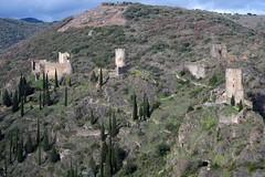Les 4 châteaux de Lastours (Philippe_28) Tags: lastours ruines châteaux ruins 11 aude france europe tour cathare cabaret regine surdespine quertinheux