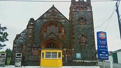 Finally a church for motorists (robbierunciman) Tags: petrol dumfriesandgalloway wigtownshire scotland garage whithorn motorists church