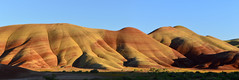 Painted Hills Lower Panorama (alexbogrand) Tags: sunset red yellow hills desert oregon nikon d3200 landscape panorama northwest pnw