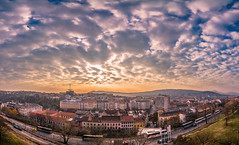 Sunset in Buda (Vagelis Pikoulas) Tags: budapest buda sunset sky clouds cloudy cloud canon 6d tokina 1628mm panorama panoramic pano view landscape city cityscape hungary europe travel 2016 colour colours november autumn
