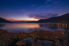 Blue hour (Vagelis Pikoulas) Tags: blue hour longexposure canon 6d tokina 1628mm sun sea seascape landscape rock rocks sky porto germeno greece europe 2017 june summer