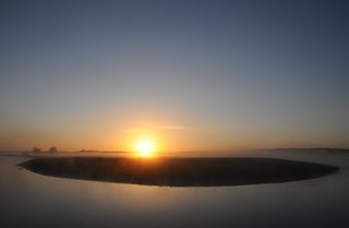 Sonnenaufgang an der Alten Treene-Schleife in Süderhöft; Nordfriesland (3)