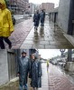 Hamburg Klepper meets Friesennerz (klepptomanie) Tags: klepper raincoat regenmantel friesennerz rainwear hood kapuze