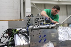 "John strengthens the inner frame to telescope connection • <a style=""font-size:0.8em;"" href=""http://www.flickr.com/photos/27717602@N03/34416463143/"" target=""_blank"">View on Flickr</a>"