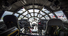Ready To Jump To Hyperspace (trainmann1) Tags: nikon d90 amateur handheld summer 2017 june hagerstownregionalairport hagerstown md maryland airport airplane airplanes plane planes sky flight runway metal rivets aluminum machine worldwar2 worldwarii wwii antique classic b29 superfortress bomber famous historic fifi interior cockpick pressurized controls guages seats pilot copilot engineer dials switches window windows commemorativeairforce caf