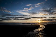 8:19pm Nye Beach (niKonJunKy22) Tags: beach beautiful beauty sunset ocean stream harizon sun sky color colorful coast coastline oregon oregoncoast newport nye people photography d700 nikon ngc geographical