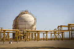 Liquified Petroleum Gas Storage Sphere (@tomcarpenter) Tags: petroleum gas plant storage liquid industry construction sky environment technology pipeline engineering chemical industrial sphere petrochemical factory refinery fuel natural energy lpg valves flammable steel environmental liquefied egypt