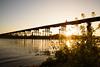 流れ橋1710・Flowing Bridge (anglo10) Tags: japan kyoto 流れ橋 橋 bridge 木津川 川 river 夕景 sunse 久世郡 京都府 菜の花 flower