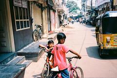 Youth... (Jetlag & A Camera Bag) Tags: hyderabad india leica m6 summicron kodak ektar film 35mm travelphotography streetphotography friends bicycles youth