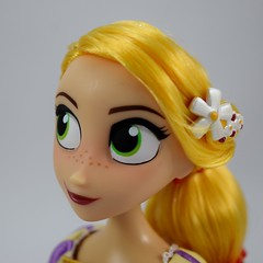 Rapunzel and Cassandra Doll Set - Tangled: The Series - Disney Store Purchase - Deboxed - Free Standing - Closeup Right Front View of Rapunzel (drj1828) Tags: us disneystore tangled tangledtheseries doll 2017 purchase posable 10inch 2d deboxed rapunzel cassandra