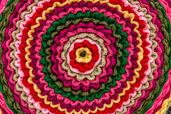 South Padre Island Style (Facundity) Tags: texas crochet wheelcover folkart decorativearts padre island colorful vibrant red pink green yellow ruffled handmade handwork gulfcoast spadreisland fibreart