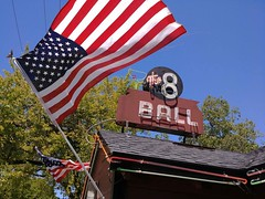 Commemorating from Cotati, Ca. (RZ68) Tags: memorial day 2017 decoration honoring remembering veterans died lost armed forces war freedom liberty lg g6 cameraphone smartphone flag american holiday thank you appreciation for colors neon tubing sign vintage 8 ball pool bar green red white blue cotati california